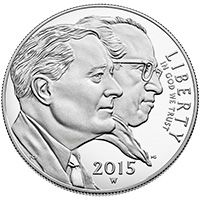 2015 March of Dimes Proof Silver Dollar Obverse