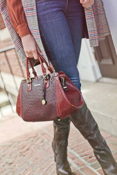 The Arden Satchel in Cordovan Abbot | Shop it now at www.brahmin.com  Oh wow.. New fave!