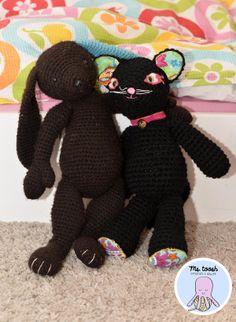 Handmade crochet black cat by MsToosh