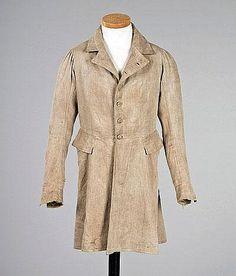 A gentleman's country coat, circa 1800, of beige