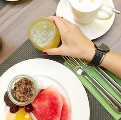 Favorite meal of the day - brunch🍉☕️😋 #LW43 www.larsenwatches.com