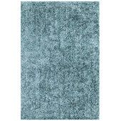 Dalyn Area Rug, Metallics Collection IL69 Sky Blue 9' x 13'  Add a pop of pure, shimmering blue to any modern room with the Metallic area rug from Dalyn. Hand-tufted of soft polyester, this high-luster shag area rug puts comfort and fun back in floor decor.
