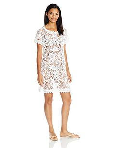 39ecfab9523 Guess Women s Crochet Cover up Dress at Amazon Women s Clothing store