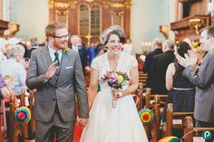 50s style wedding dress | St James' Church wedding in Poole, Dorset | Documentary wedding photography by Dorset wedding photographer & photojournalist Paul Underhill