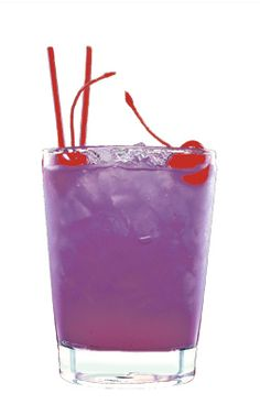 The Purple Matthew: Ingredients 2 oz. blueberry syrup Soda water Method Stir the vodka and blueberry syrup with ice. Strain into a long drink glass filled with ice cubes and top up with soda water. Bottoms Up! Party Drinks, Cocktail Drinks, Fun Drinks, Yummy Drinks, Alcoholic Drinks, Cocktail Night, Refreshing Drinks, Purple Signature Drinks, Purple Cocktails
