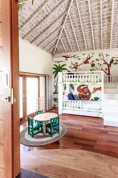 Villa JOJU- THE PERFECT FAMILY VILLA | Bali Interiors Interior Room Decoration, Interior Design, Fireplace Garden, Backyard Pool Landscaping, Tv In Bedroom, Spanish Style Homes, Beach House Decor, Home Decor, House Made