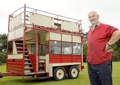 Tony Hood with his converted horsebox. Picture by: Matthew Usher.