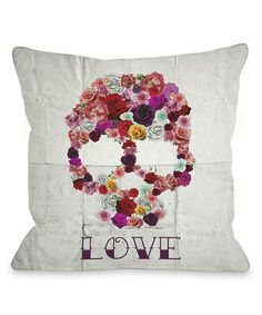 Look what I found on #zulily! Bed of Roses Throw Pillow #zulilyfinds