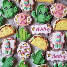 Steph's Sweets Boutique Galletas Cookies, Baby Cookies, Baby Shower Cookies, Birthday Cookies, Sugar Cookies, 2nd Birthday Party For Girl, Second Birthday Ideas, Suga Suga, Taco Party