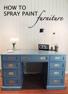 Pintar Muebles Pintura con spray.