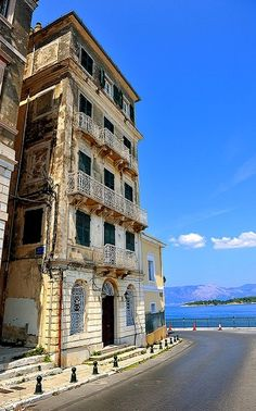 Corfu Island (Ionian), Greece | Flickr - Photo by Vasilis. Mykonos Greece, Crete Greece, Athens Greece, Places To Travel, Places To See, Travel Destinations, Corfu Town, Corfu Island, Greek Isles