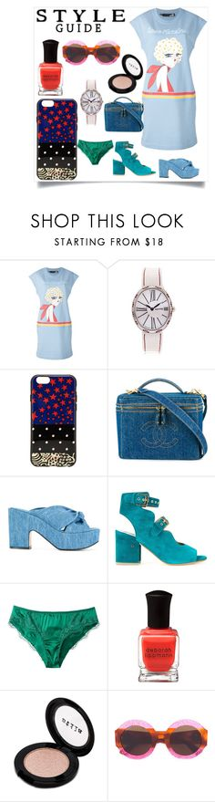 """modalist cashback"" by justinallison ❤ liked on Polyvore featuring Love Moschino, Eberhard & Co., Marc Jacobs, Chanel, Robert Clergerie, Laurence Dacade, Dolce&Gabbana, Deborah Lippmann, Stila and Gucci"