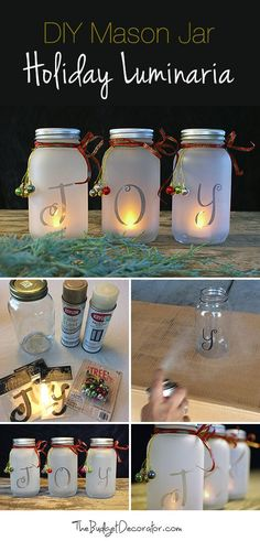 DIY Mason Jar Holiday Luminaria - Crafting Is My Life