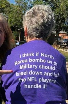I think if North Korea bombs us the military should kneel down and let the NFL Players handle it