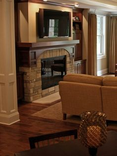 """Traditional Family Room """"TV Over Fireplace"""" Country Design, Pictures, Remodel, Decor and Ideas - page 3"""