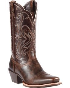 Ariat Legend Chocolate Chip Cowgirl Boots - Snip Toe, Chocolate