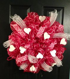 Valentine Day Wreath by TazCreations on Etsy, $68.00