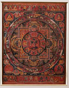 Mandala of Cakrasamvara Tibet Late 15th-early 16th century, Sakya Tradition Mineral pigments on prepared fabric
