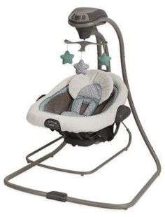 Keep your baby content with this Duet Connect LX Swing and Bouncer by Graco. Finished in a simple manor color, this two-speed swing features several speeds and sounds to help your baby relax, with three soft toys for entertainment. Babies R Us, Babies Stuff, Toddler Stuff, Graco Baby Swing, Bouncer Swing, Infant Toddler, Toddler Toys, Baby Boys, Baby Girl Outfits