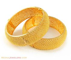 22K Gold Jewelry Designs | 22K Gold Wide Bangle (Kara) ( Kadas )