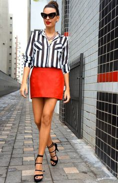 Novidades Na Miss Trendy: Listras E Mais Listras! ( Sandals & Skirts )