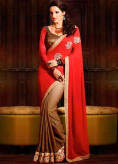 Beautiful #Georgette #Saree for your social occasions and party.