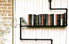 plumber pipes floating bookshelf