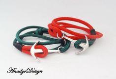 FREE SHIPPING,Anchor bracelet,Couple bracelets,Nautical bracelet,His & Hers Bracelet set,Paracord bracelet, paracord bracelets,Rope bracelet