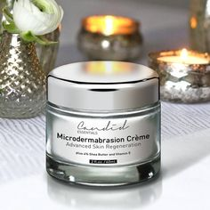 """""""#Sundayritual.  Leaves my face silky smooth.  #candidessentials #microdermabrasion #scrub #sheabutter #vitamine"""""""