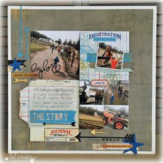 #papercraft #scrapbook #layout on today: destination explore; love the colors together