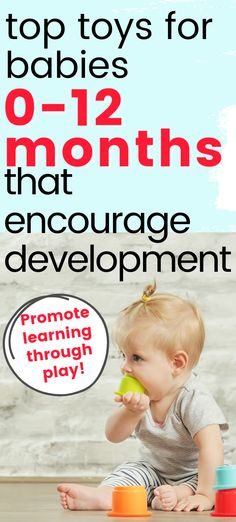 Are you looking for infant toys that encourage development?  These baby toy ideas are perfect at encouraging fine motor, gross motor, and cognitive skills.  Use these toys during baby play time to make it fun. Language Development, Baby Development, Gross Motor, Fine Motor, Baby Hacks, Baby Tips, Best Baby Toys, Baby Learning, Babies First Year