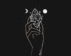 """any life form in any realm can be said to undergo 'enlightenment'. it is, however, an extremely rare occurrence since it is more than an… Witch Aesthetic, Aesthetic Art, Wallpapers Kawaii, Crystal Drawing, Witch Art, Life Form, Moon Art, Black Wallpaper, Wicca"