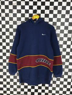 detailed look 6d505 8a382 NIKE Sweatshirt Hoodie Large Vintage 90 s Sportswear Nike Swoosh Nike  Sports Just Do It Pullover Blue Nike Sweater Size L