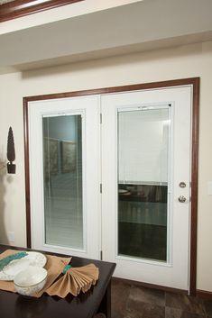 Patio Doors With Built In Blinds | Swing Patio Door With Enclosed Blinds