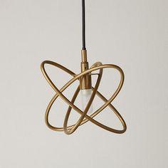 Retro Metal Hoop Pendant Lamp (Gold) | The Land of Nod #NodWishlistSweeps