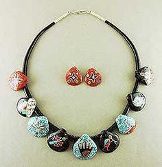 Overlay Shell Mosaic Necklace by Mary C. Lovato, Kewa (Santo Domingo)