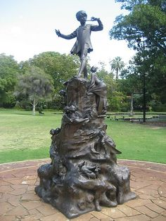 Statue of Peter Pan in Queens Garden, Perth, WA, Australia. Aussie Australia, Perth Western Australia, Peter Pan Art, Dutch East Indies, Facts For Kids, Tasmania, Public Art, Great Britain, National Parks