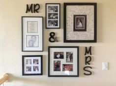 Wedding wall for the bedroom