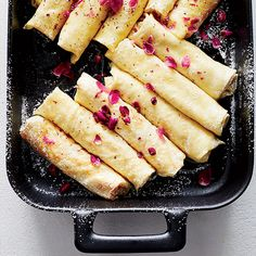 Ricotta Crêpes with Honey, Walnuts and Rose | Food & Wine