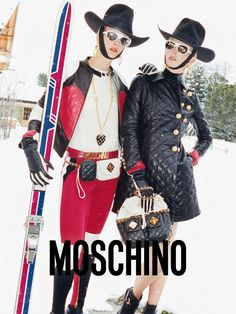 Come to the Alps with Moschino and Juergen Teller for the new Moschino F/W 12-13 Ad Campaign!