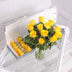 Our 12 yellow letterbox roses are a gorgeous gift for someone special! Add a message to the gift card to create a romantic gift for any occasion! Letterbox Gifts, Flower Food, Yellow Roses, Thoughtful Gifts