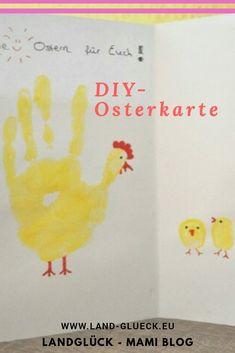 Hier erfährst du,  wie du eine ganz persönliche Osterkarte basteln kannst. Basteln mit Kindern - einfach und schnell.