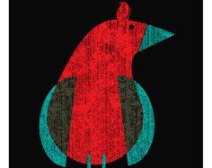 Screenprint - Seabird Art print Modern Bird On The Ocean & Sea art print