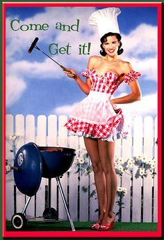 pinup, retro, fourth of july, bbq