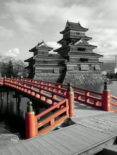 Matsumoto Castle in Japan one of a few wooden castles left... there used to be 1,000s
