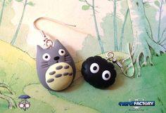 Totoro&Nerino earrings, hand-made! http://www.thenfactory.com/prodotto/totoro-nerino-orecchini/