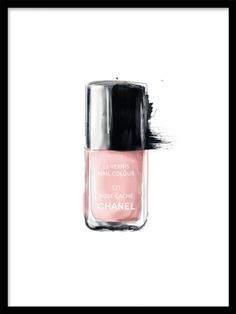 Art print Chanel Nail polish. Matches perfectly with Chanel Lipstick poster. More make-up and fashion poster at desenio.se