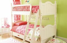 Twin Girls Bedroom With Straicase
