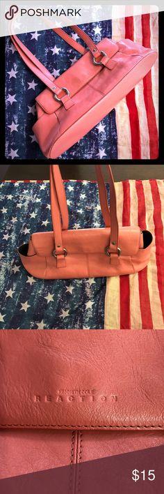 d85bff2e4a Kenneth Cole Reaction Purse Beautiful Salmon colored purse. Clasp Top