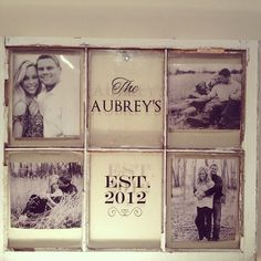 Personalized Antique Old Windows by paige21 on Etsy, $100.00